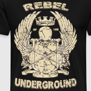 Rebel of the underground fantasy rap hiphop - Men's Premium T-Shirt
