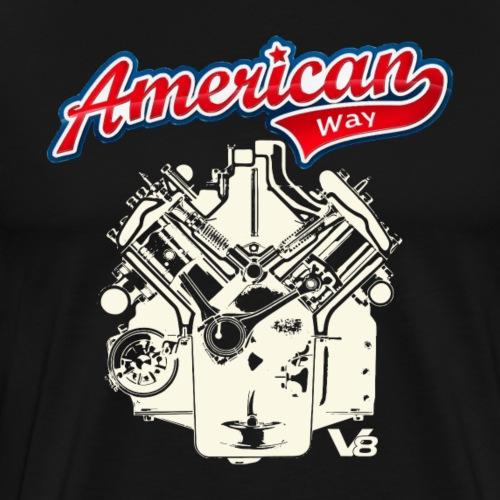 V8 Motor AMERICAN WAY light design - Men's Premium T-Shirt