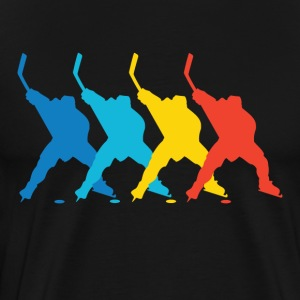 Retro Hockey Pop Art - Men's Premium T-Shirt