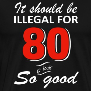 Funny 80th year old birthday designs - Men's Premium T-Shirt