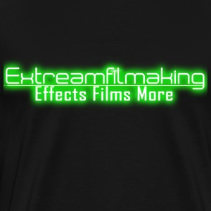 Green Extreamfilmaking Glowing Logo - Men's Premium T-Shirt