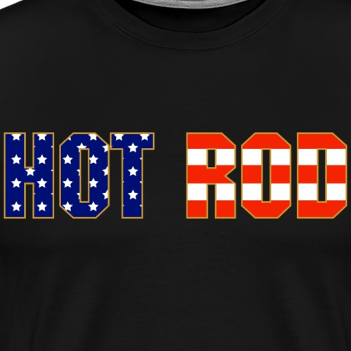 Hot Rod in Red and Blue - Men's Premium T-Shirt