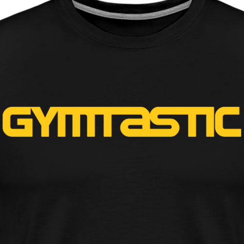 Gymtastic - Yellow - horizontal - front - Men's Premium T-Shirt