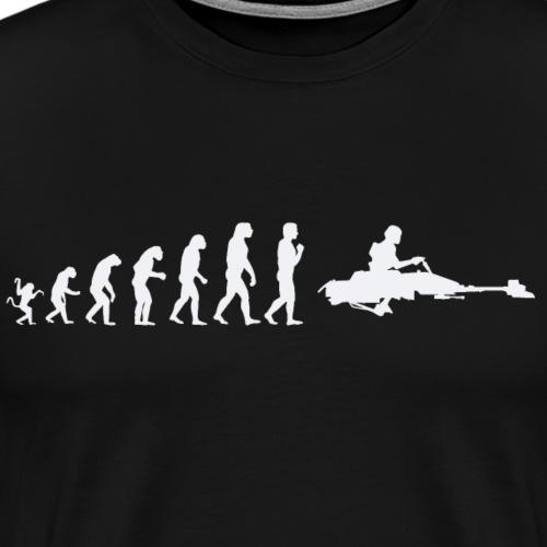 Star Wars Evolution of man : Speed bike - Men's Premium T-Shirt