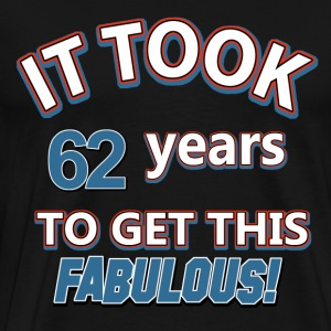 62nd birthday design - Men's Premium T-Shirt