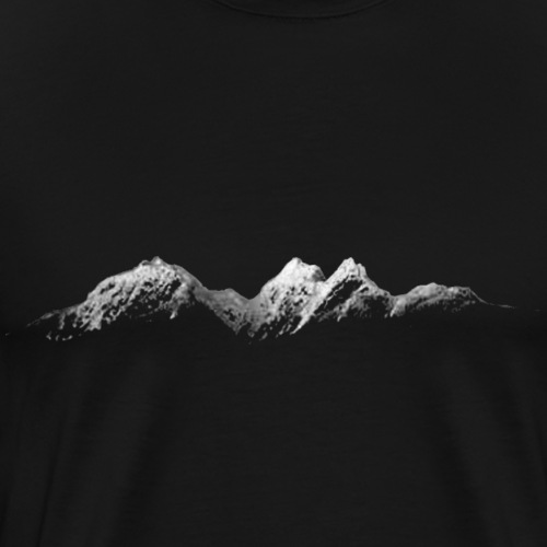 Mountains at Night - Men's Premium T-Shirt
