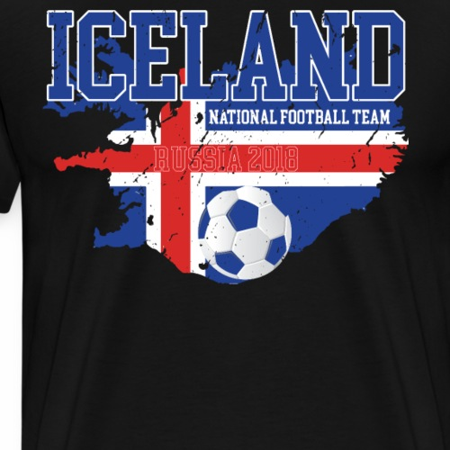 iceland soccer national team world cup Vintage - Men's Premium T-Shirt