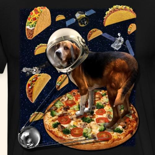Commander Louie on Pizza & Taco Patrol - Men's Premium T-Shirt