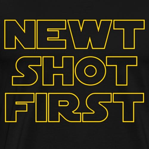 Newt Shot First - Men's Premium T-Shirt