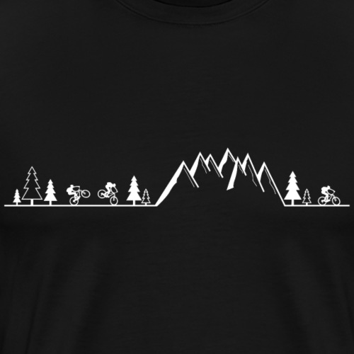 mountain bike cycling - Men's Premium T-Shirt