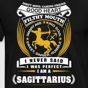 I never said I was perfect I am a Sagittarius - Men's Premium T-Shirt