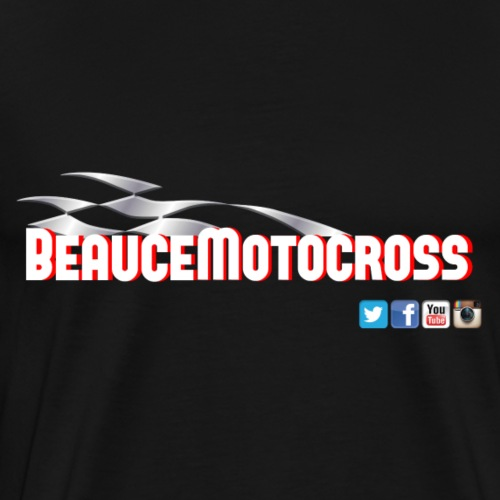 Beauce Motocross logo style racing - Men's Premium T-Shirt