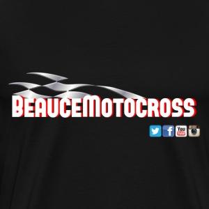 Beauce Motocross logo style racing - T-shirt premium pour hommes