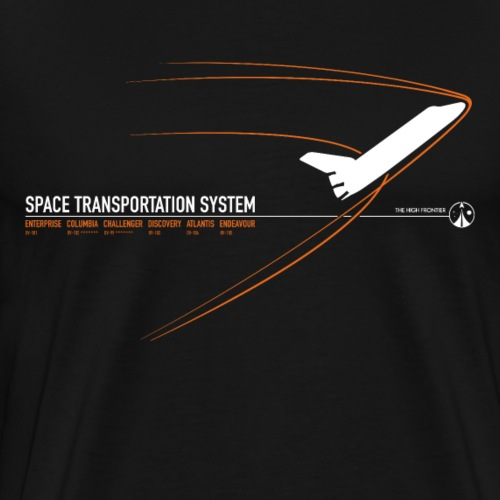 Space Shuttle - Orange - Men's Premium T-Shirt