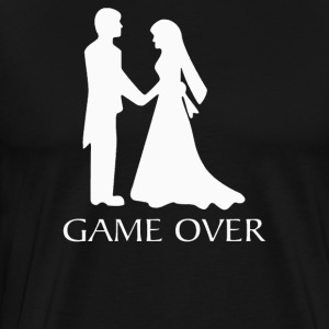 Game Over Wedding - T-shirt premium pour hommes
