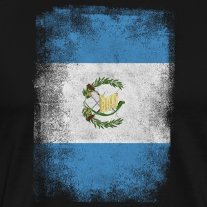 Guatemala Flag Proud Guatemalan Vintage Distressed - Men's Premium T-Shirt