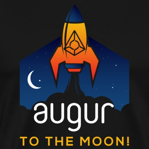 Augur (REP) Logo to the Moon REP Crypto Currency - Men's Premium T-Shirt