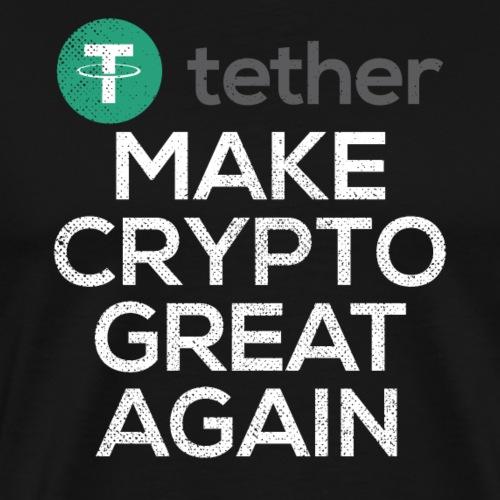 Tether USDT Logo Hodl Crypto - Men's Premium T-Shirt