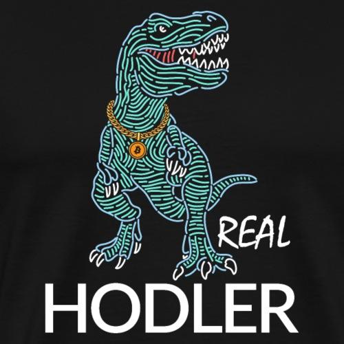 T-REX Gangster Bitcoin Hodler - Men's Premium T-Shirt