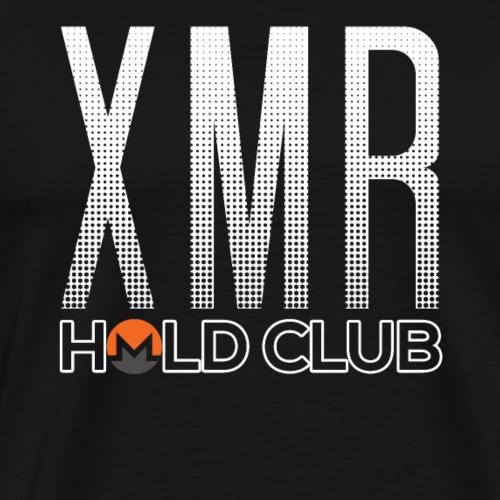 Monero XMR Logo Hold Club Hodl - Men's Premium T-Shirt