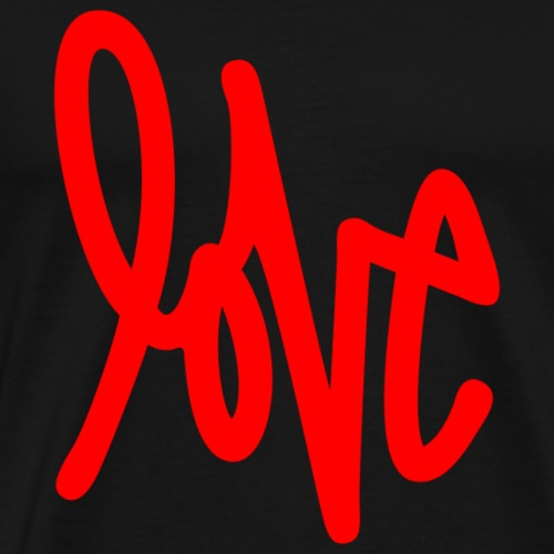 Love - Graffiti Design (Red) - Men's Premium T-Shirt