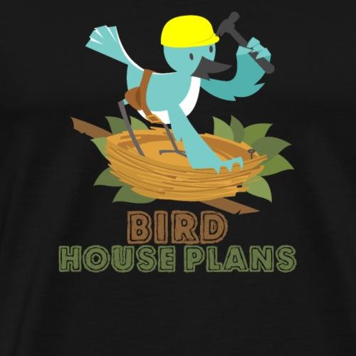 BIRD HOUSE PLAN SHIRT - Men's Premium T-Shirt