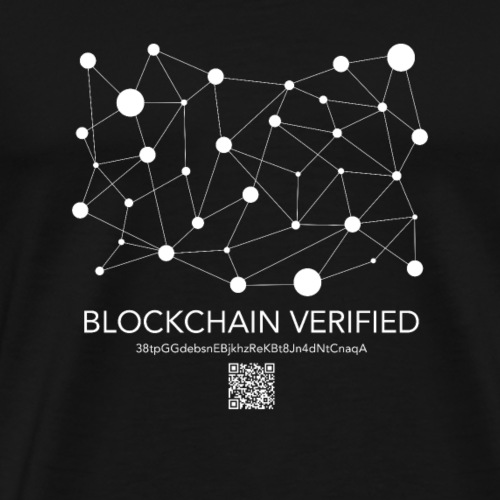 Sha 256 CryptoCurrency Blockchain Verification - Men's Premium T-Shirt