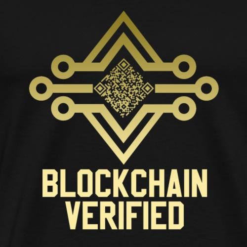 Blockchain Verification Tshirt Gold Circuit board - Men's Premium T-Shirt