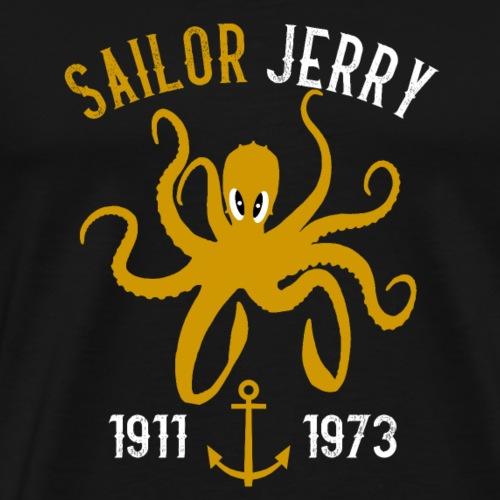 SAILOR JERRY Tattoo Octopus Kraken - Men's Premium T-Shirt