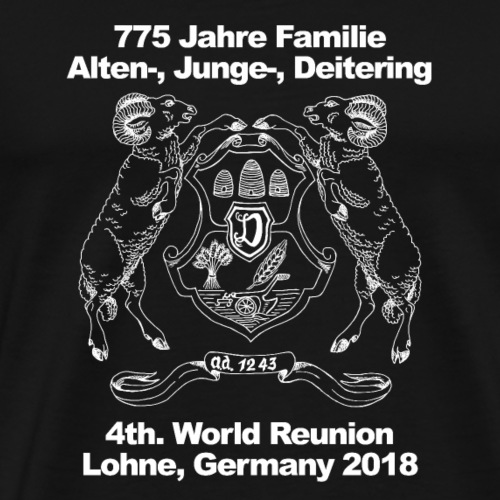 4th. World Reunion Alten-, Junge- and Deitering - Men's Premium T-Shirt
