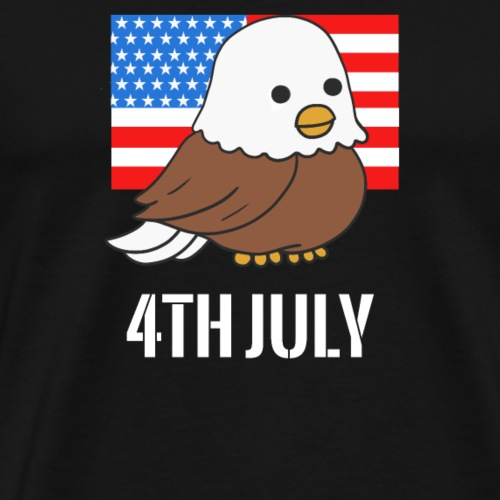 Bald Eagle American Flag 4th of July Independence - Men's Premium T-Shirt