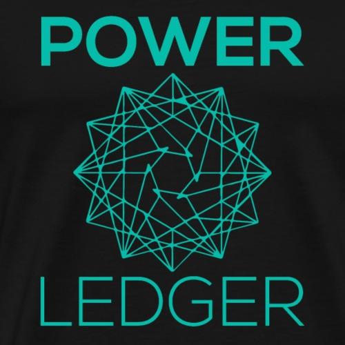 Power Ledger POWR Crypto Logo - Men's Premium T-Shirt