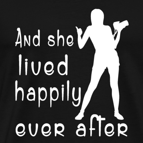 Photography and she lived happily ever after shirt - Men's Premium T-Shirt
