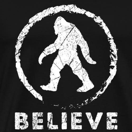 bigfoot Believe funny gift t-shirt - Men's Premium T-Shirt