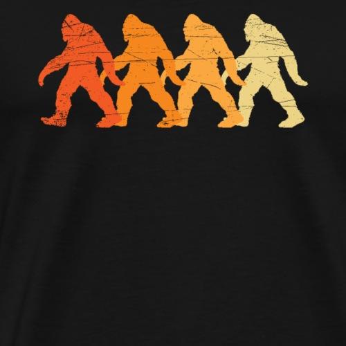 retro vintage bigfoot Believe gift t-shirt - Men's Premium T-Shirt