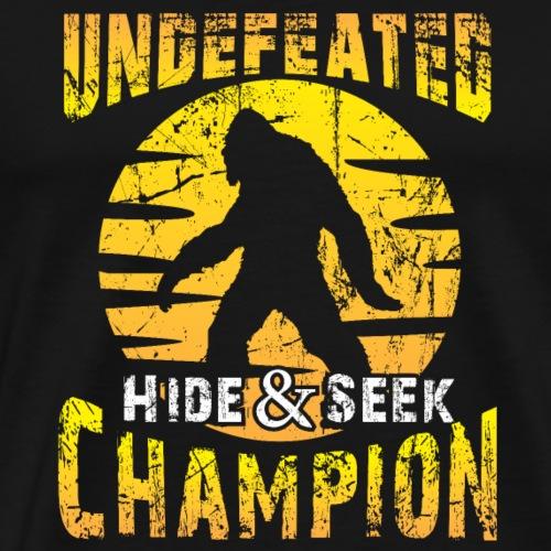 Hide And Seek World Champion bigfoot funny shirt - Men's Premium T-Shirt