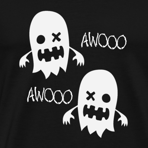 Ghosts spook in the haunted house Awooo - Men's Premium T-Shirt