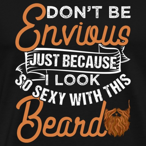 Sexy Bearded Man - Men's Premium T-Shirt
