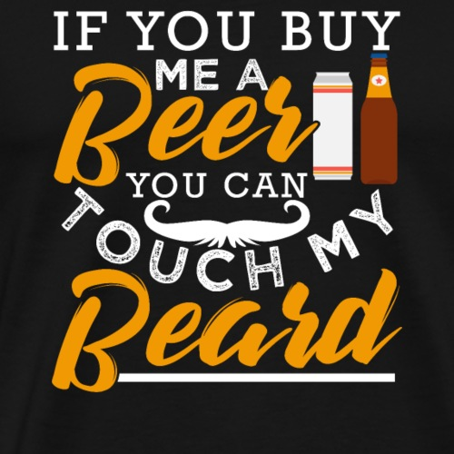 Beer Beard - Men's Premium T-Shirt