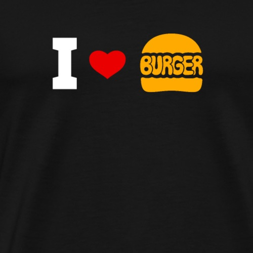 I Love Burger - Men's Premium T-Shirt