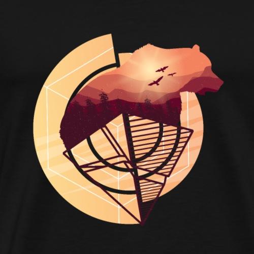 Cute Geometric Bear - Men's Premium T-Shirt