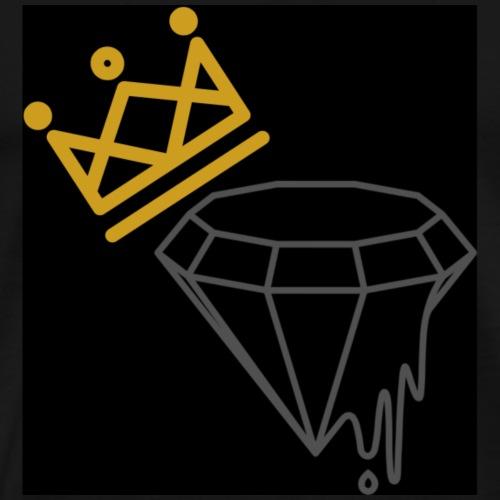 Diamond King Black Logo   Tiggah The Rapper - Men's Premium T-Shirt
