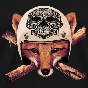 FOX-skull-head - Men's Premium T-Shirt
