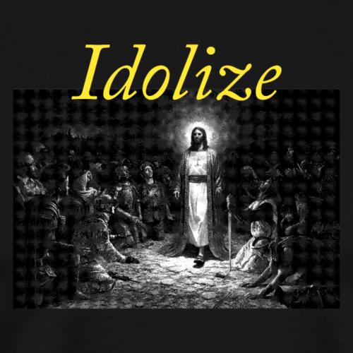 Idolize (Black/White Halftone) - Men's Premium T-Shirt
