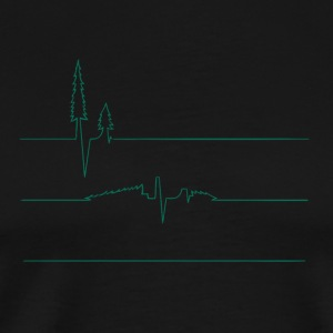 Earth s Heart Monitor - Men's Premium T-Shirt