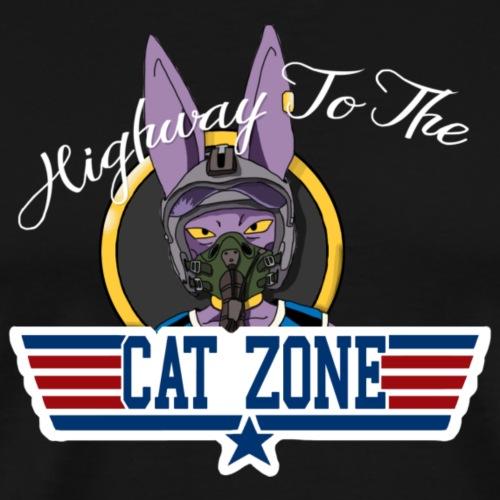Highway To The Cat Zone - Men's Premium T-Shirt