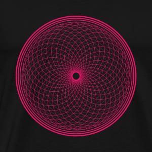 Crown Chakra - Flower of Life pink (Sahasrara) - Men's Premium T-Shirt