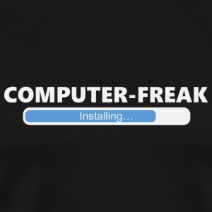 Installing Computer Freak (1011) - Men's Premium T-Shirt