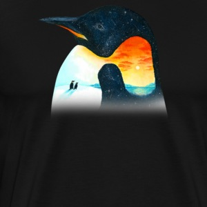 Penguin Sunset - Men's Premium T-Shirt