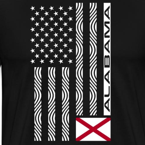 Modern US State Flag T-Shirt: ALABAMA - Men's Premium T-Shirt